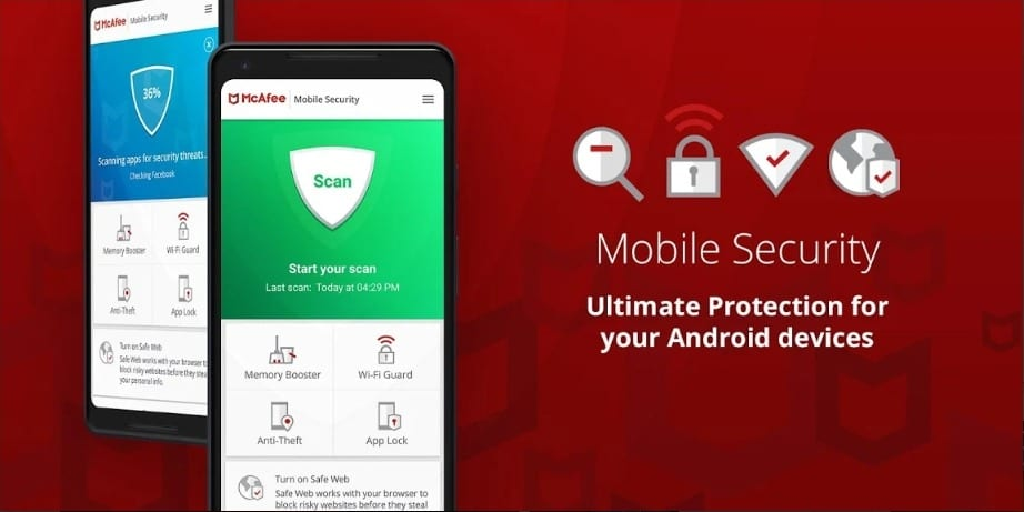 Mobile Security screen