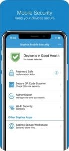 Sophos Mobile Security screen
