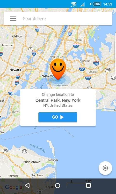 fake GPS location - hola-screen