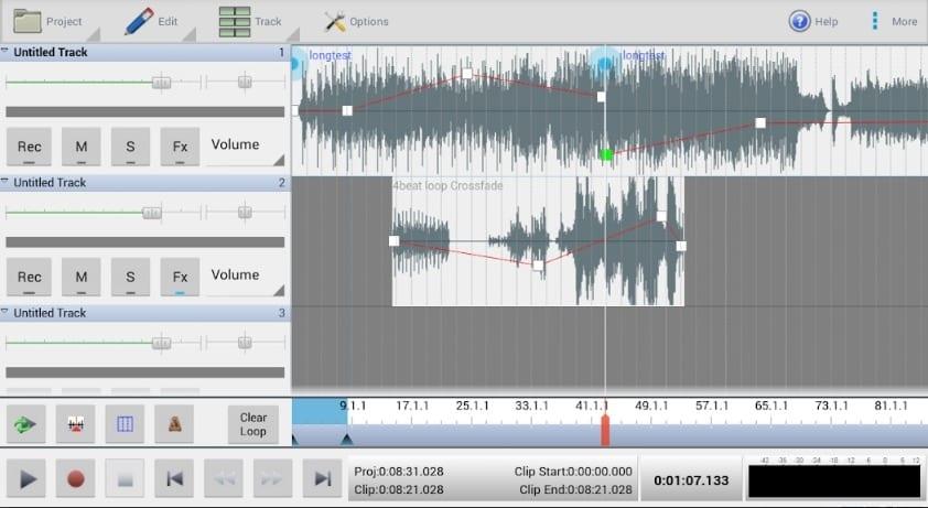 mixpad screen