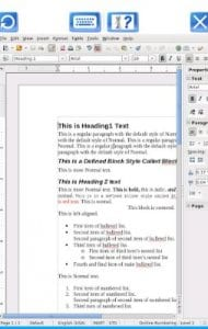AndroWriter document editor