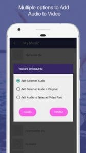 Add Audio to Video : Audio Video Mixer