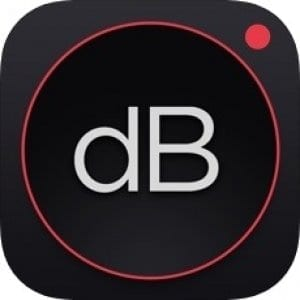 Decibel dB sound level meter logo