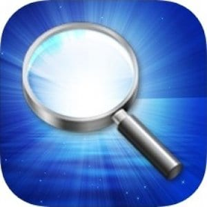 Magnifying Glass With Light logo