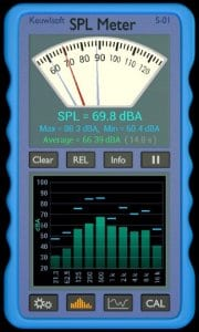 SPL Meter screen