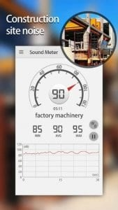 Sound Meter & Noise Detector screen