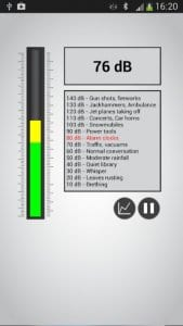 sound meter pro screen