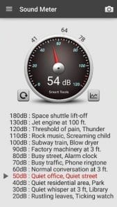sound meter screen