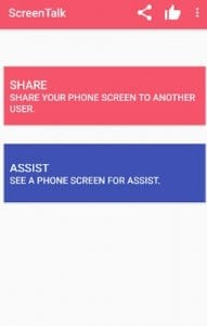 ScreenTalk : Remote Mobile Screen Sharing