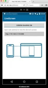 LiveScreen - Screen Mirroring - Screen Sharing