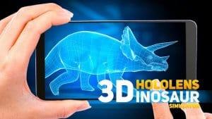 HoloLens Dinosaurs park 3d hologram PRANK GAME