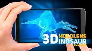 HoloLens Dinosaurs screen