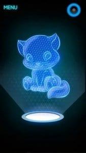 Hologram Kitten screen