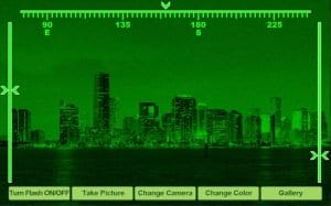Night Vision simulator screen