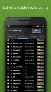 WiFi Monitor: analyzer of WiFi networks