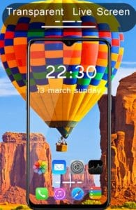 Transparent Live Wallpaper : Transparent screen