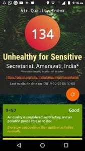 Air Quality Index - Real time