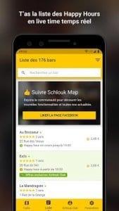 Schlouk Map - La Carte des Bars & des Happy Hours