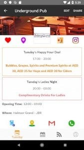 The Happy Hours App