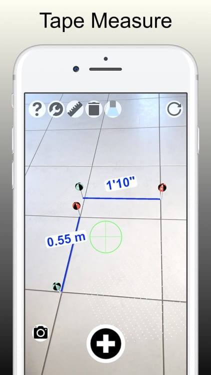 tape measure camera ruler ar1