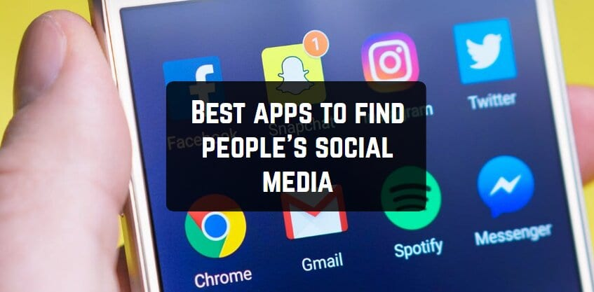 Best apps to find people's social media