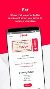 Crave: Live Deals & Discounts From Top Restaurants