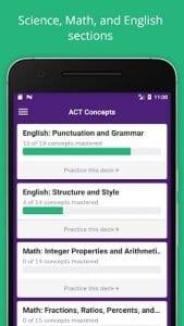 ACT Flashcards, SAT / ACT Prep