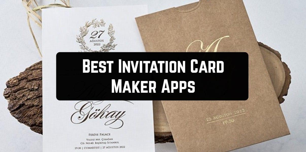 Best Invitation Card Maker Apps