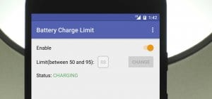 Notification when the battery is charged to a certain level
