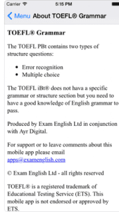 TOEFL® Grammar12