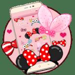 cartoon pink cute butterfly theme