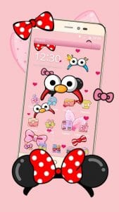 cartoon pink cute butterfly theme1