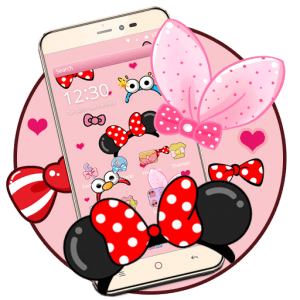 cartoon pink cute butterfly theme2