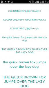 color fonts for flipfont1
