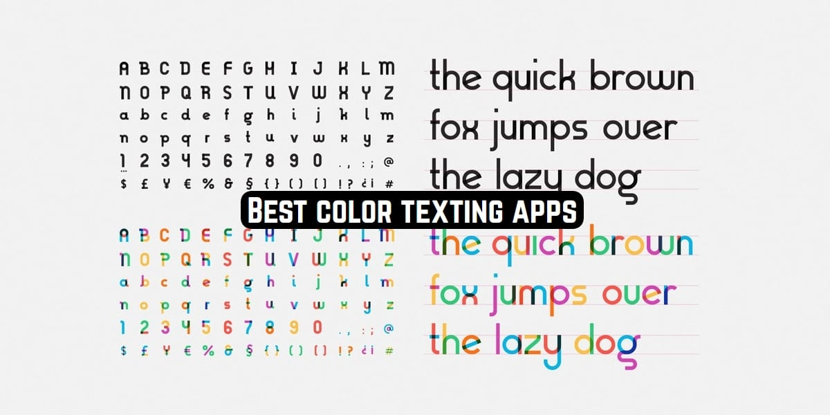 color texting apps