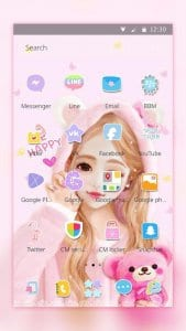pink cartoon lovely girl theme2