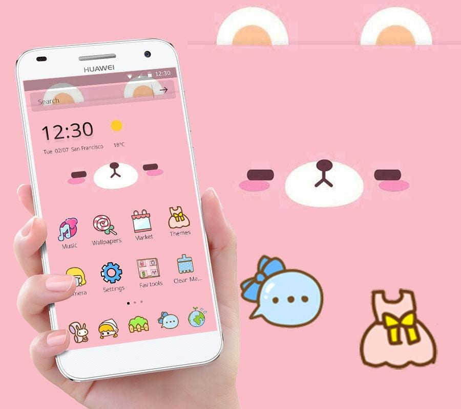 pink cute cartoon bear theme1
