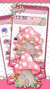pink cute mushroom theme1