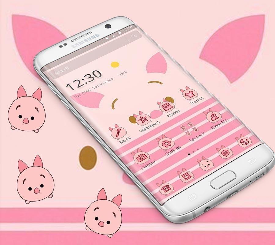pink cute piggy theme2
