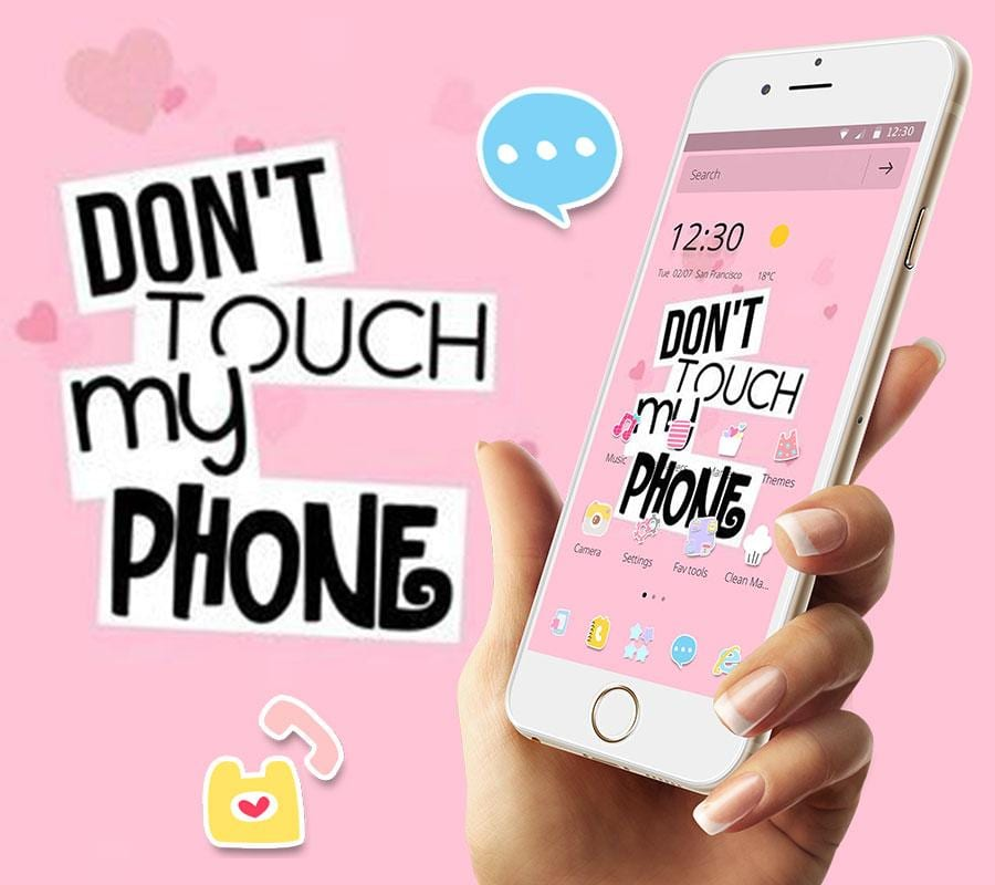 pink dont touch my phone1