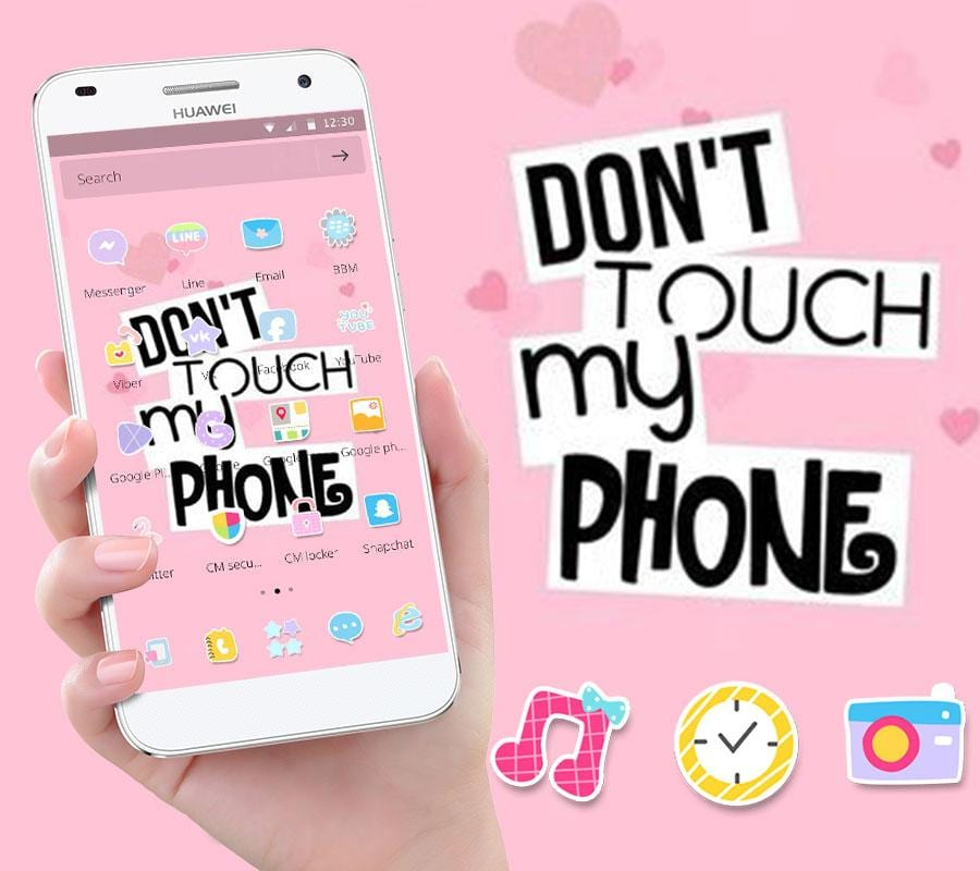 pink dont touch my phone2