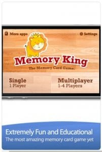 Memory King – The Memory Cards Matching Game