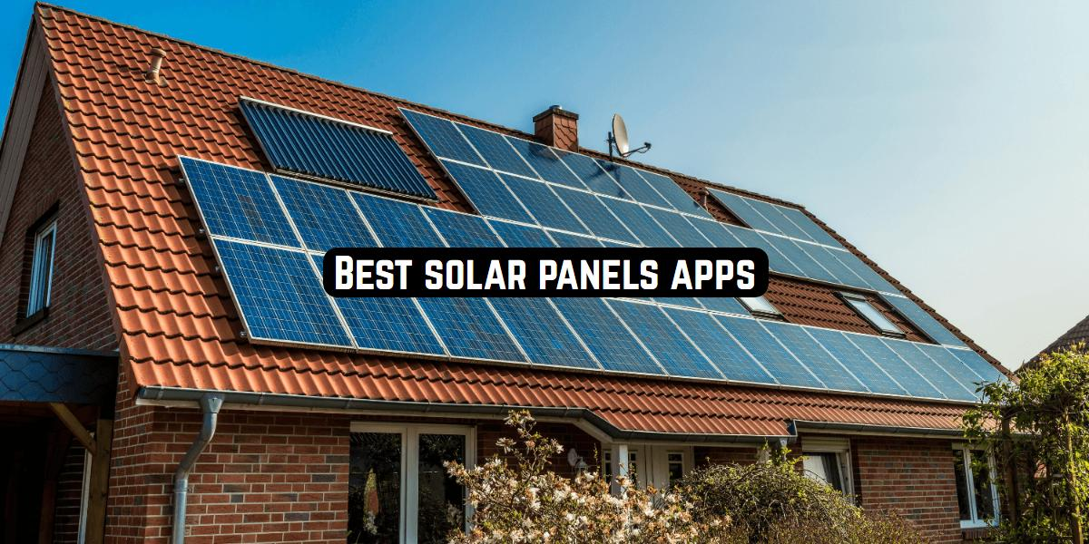solar panels apps