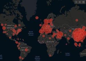 coronavirus map 2