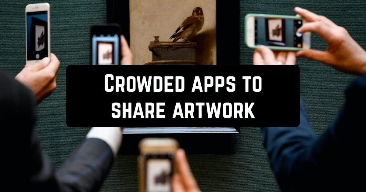 Crowded apps to share artwork