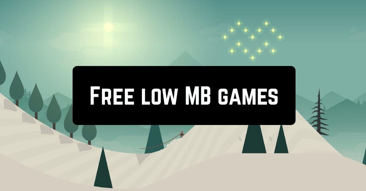 Free low MB games