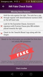 INR Fake Note Check Guide