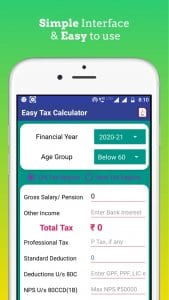 Income Tax Calculator for Salaried and Pensioners