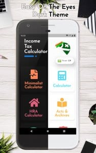 Income Tax Calculator - with Indian Income Tax Act