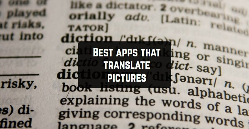 Best apps that translate pictures